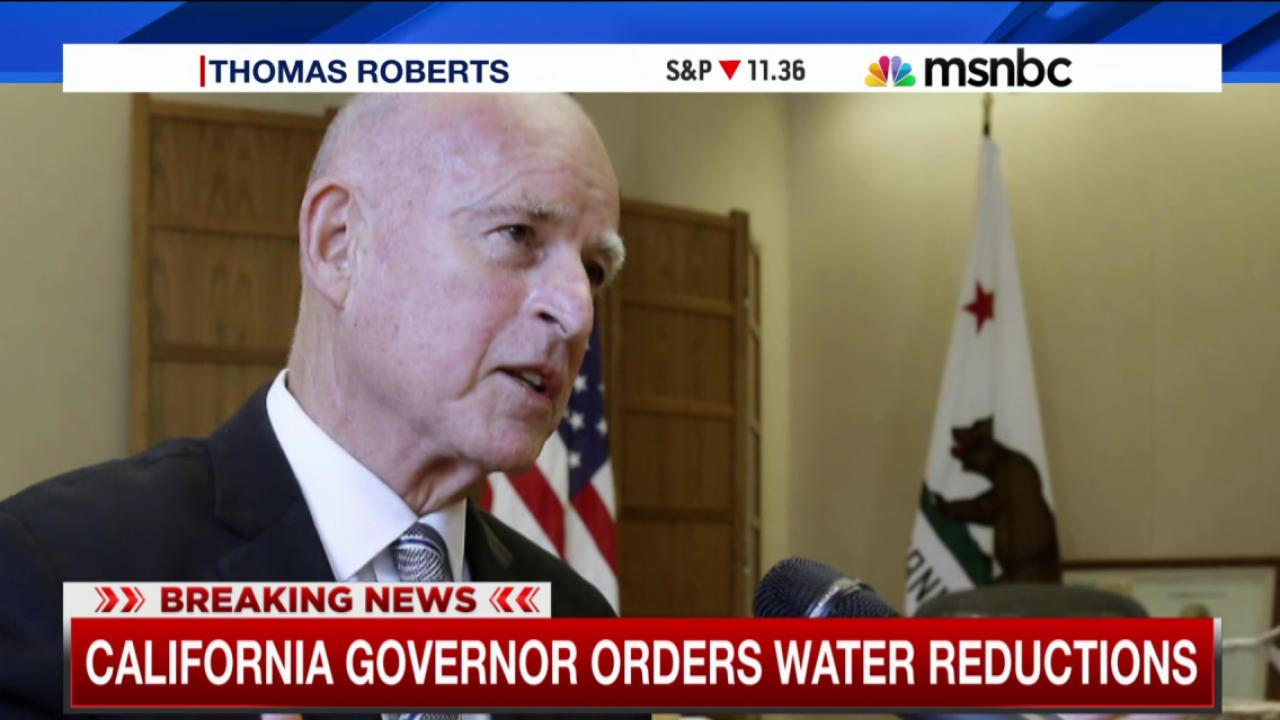 California governor orders water reductions