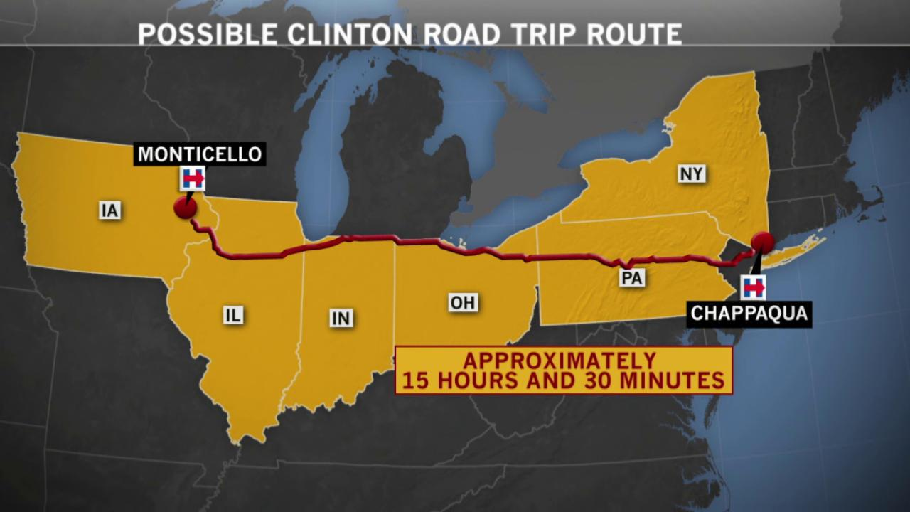Hillary Clinton heads to Iowa