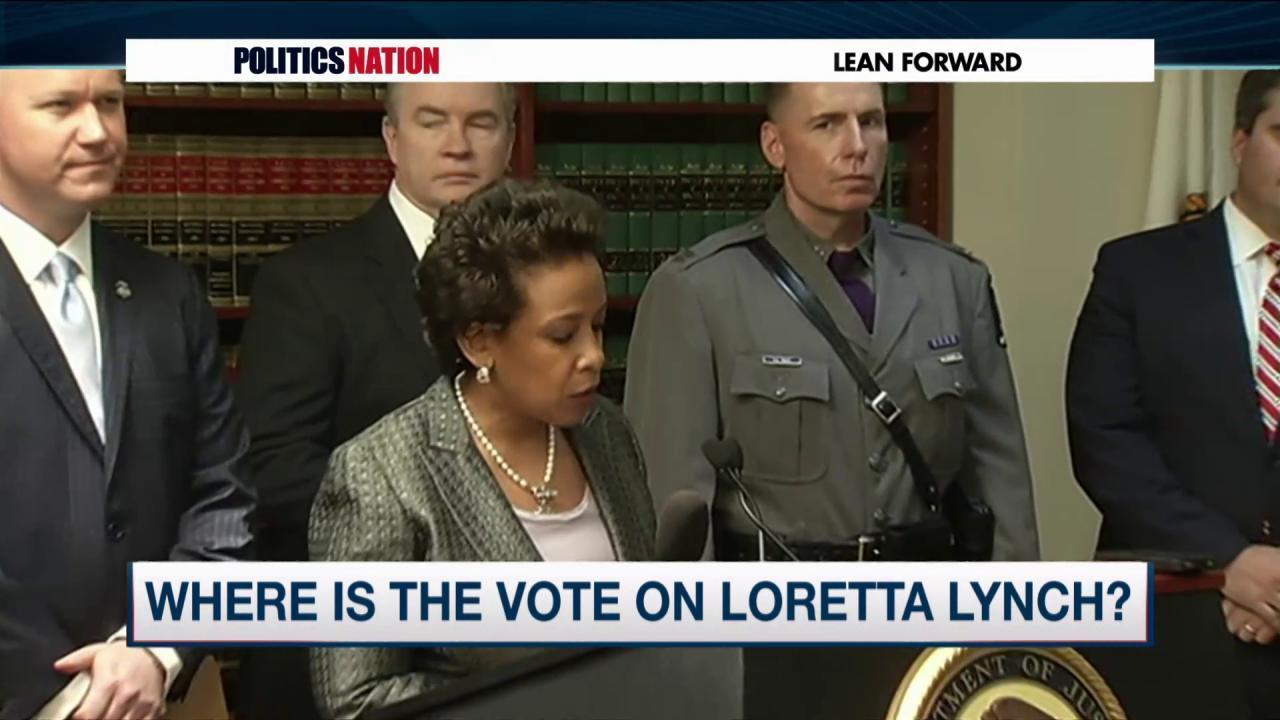 Civil rights leaders push for Loretta Lynch