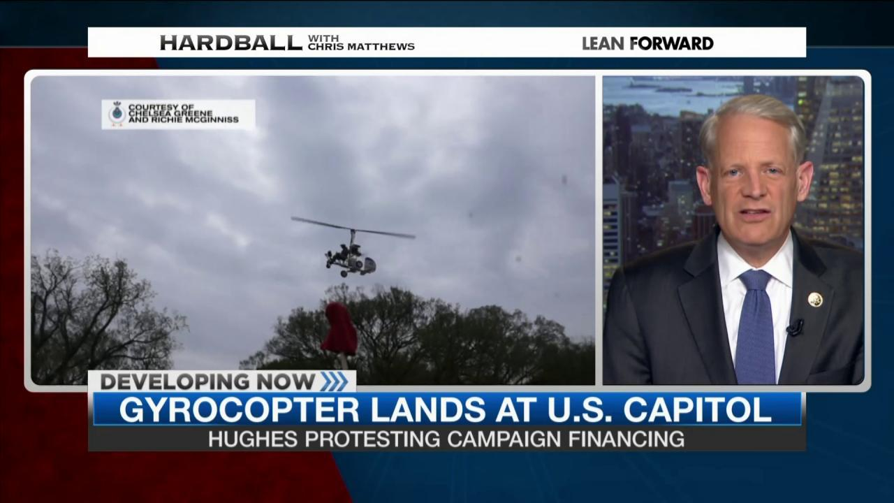 Gyrocopter pilot protesting campaign finance
