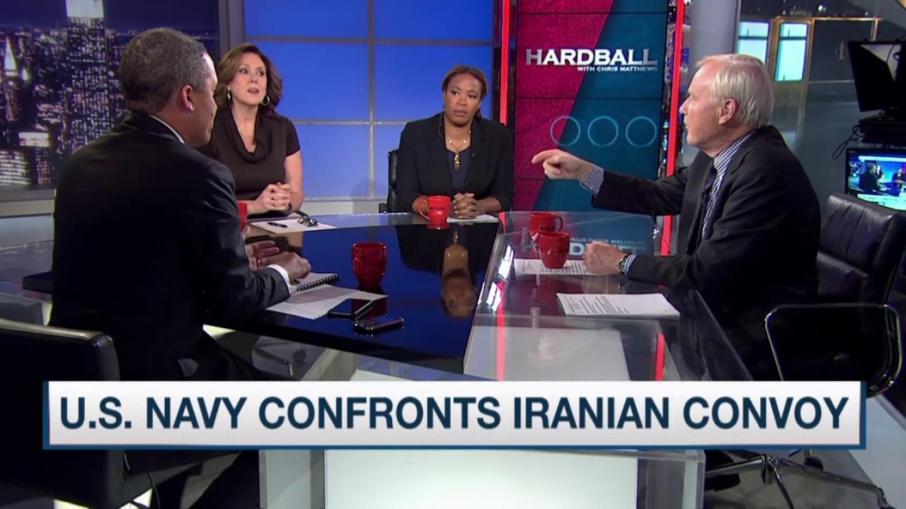 US Navy confronts Iranian convoy