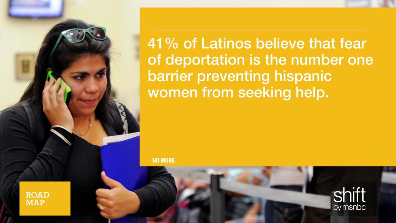 Fear of deportation barrier to reporting...