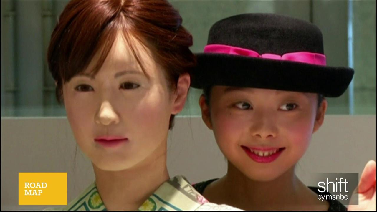 Robot receptionist greets customers in Japan