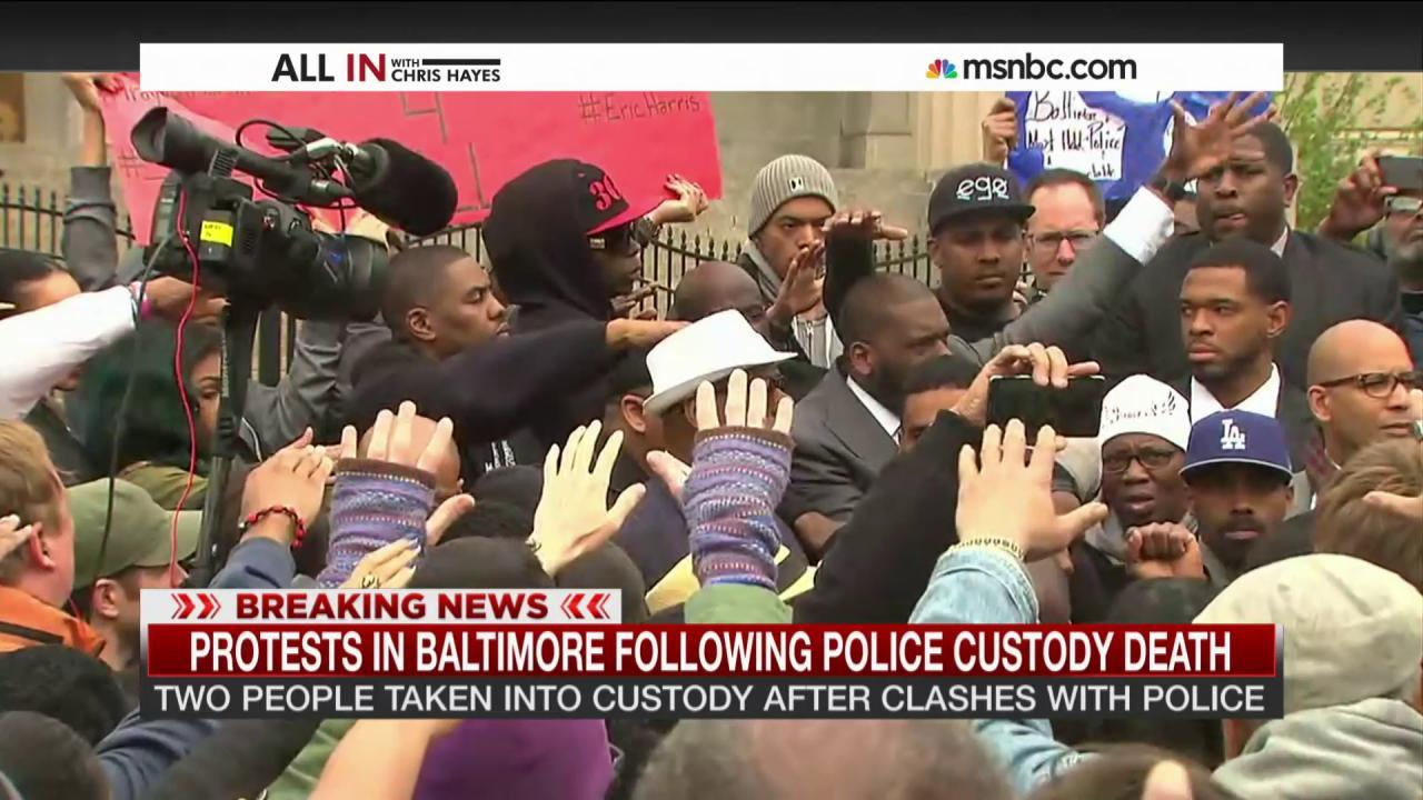 Another day of protests in Baltimore