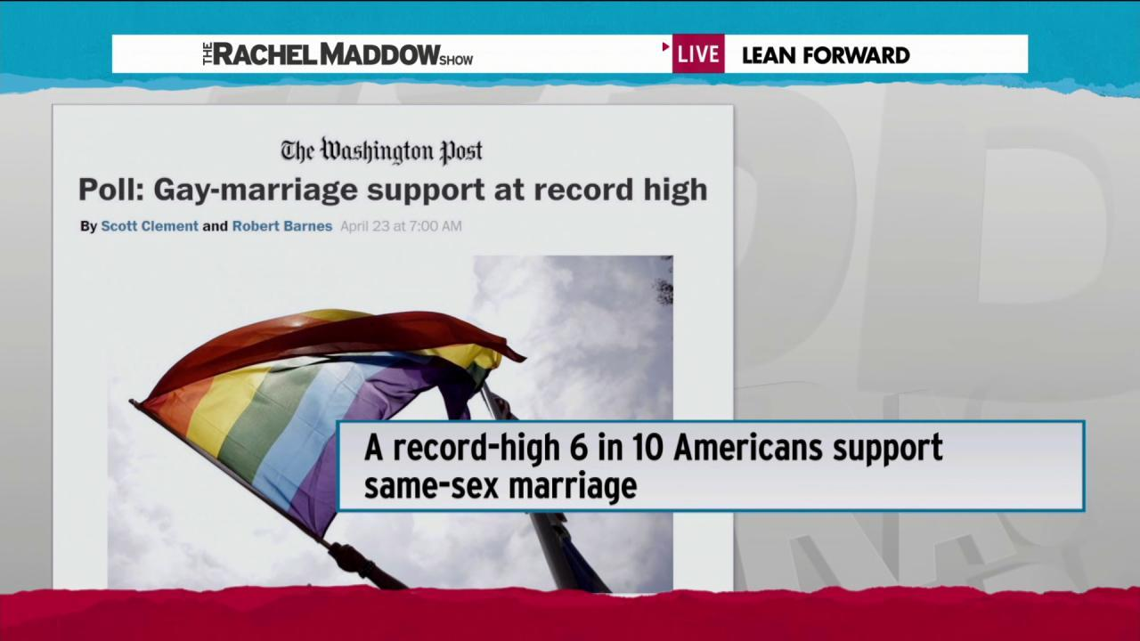 Gay marriage enjoying growing support: poll