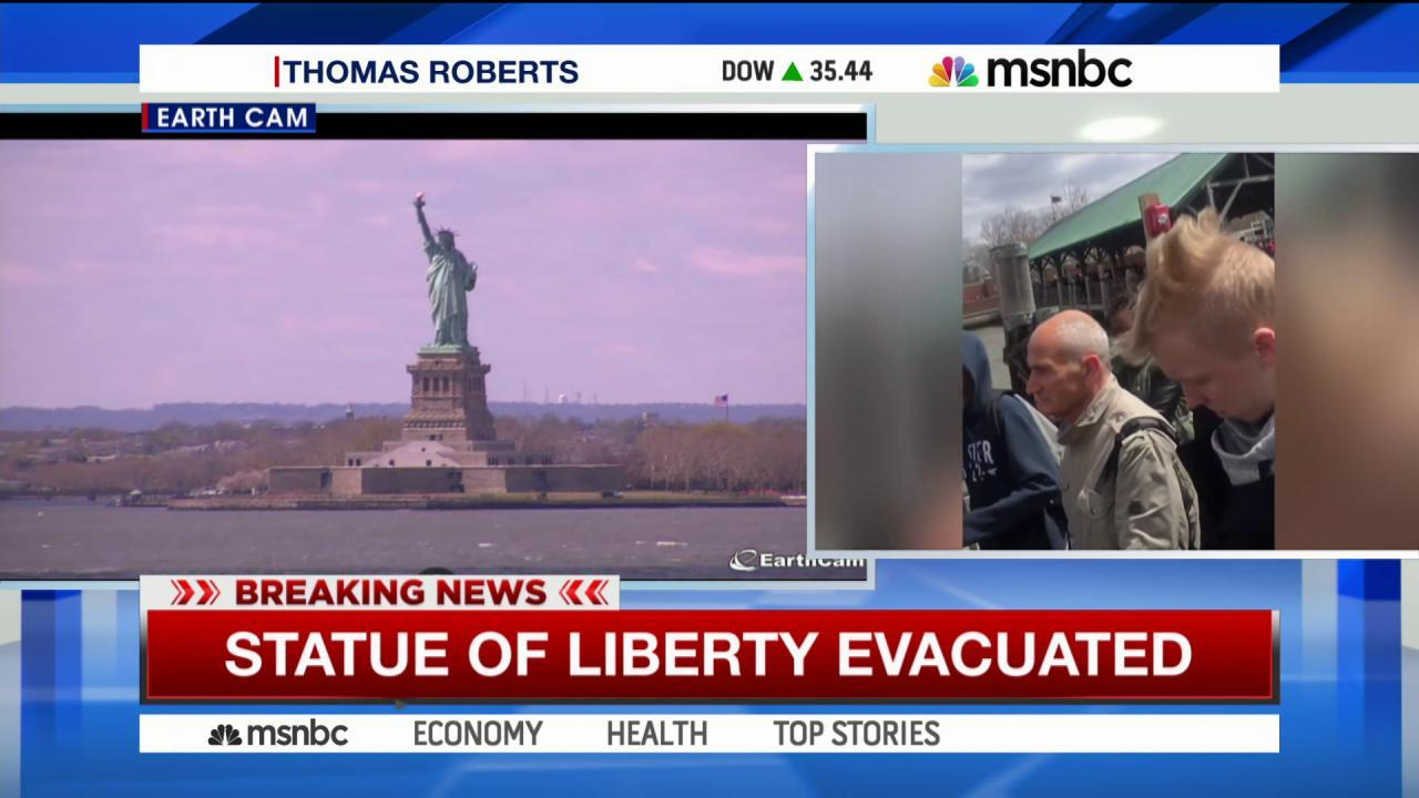 NYPD bomb squad searching Statue of Liberty