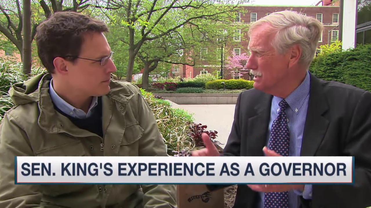 Sen. Angus King on drone program, trade deal