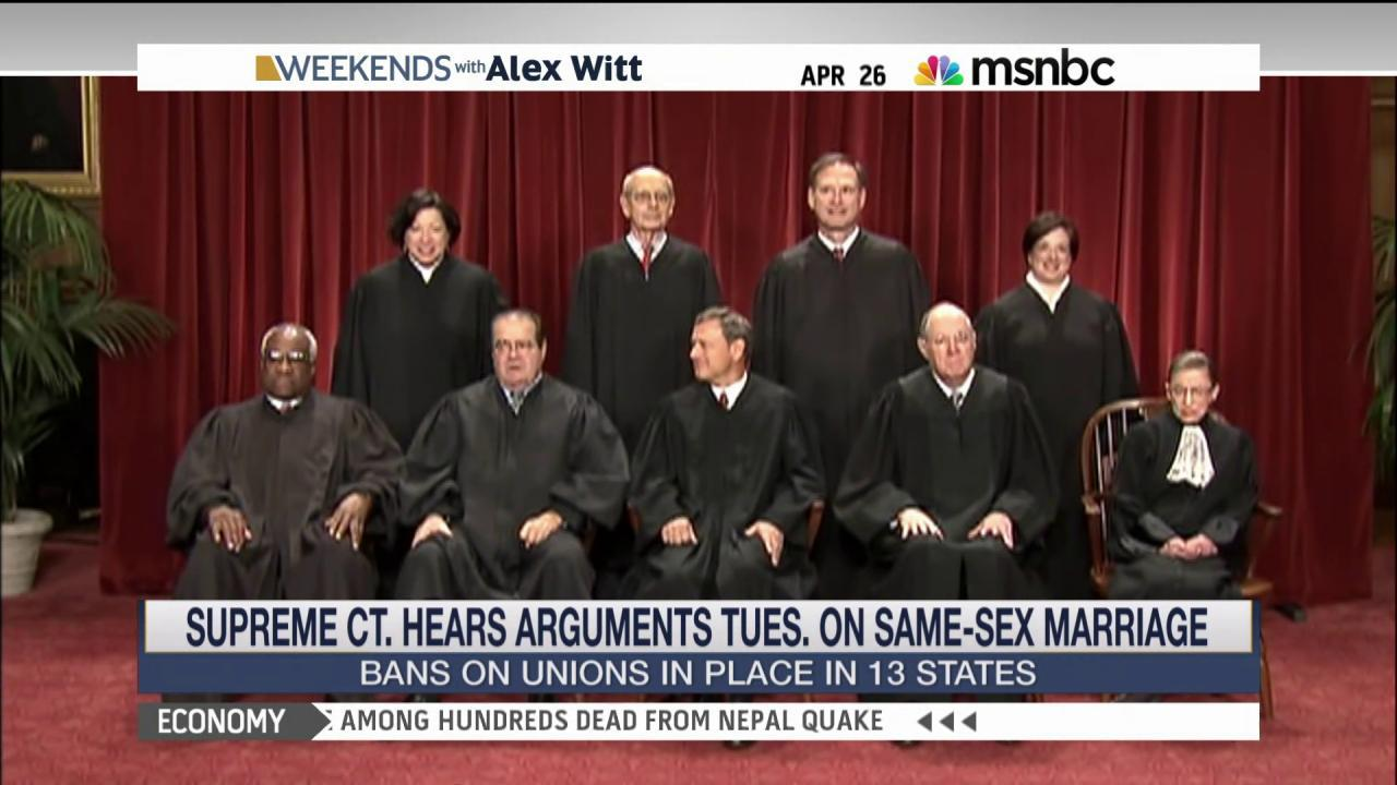 Arguments to begin in same-sex marriage cases