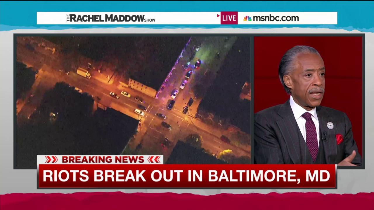 Al Sharpton called to help in Baltimore