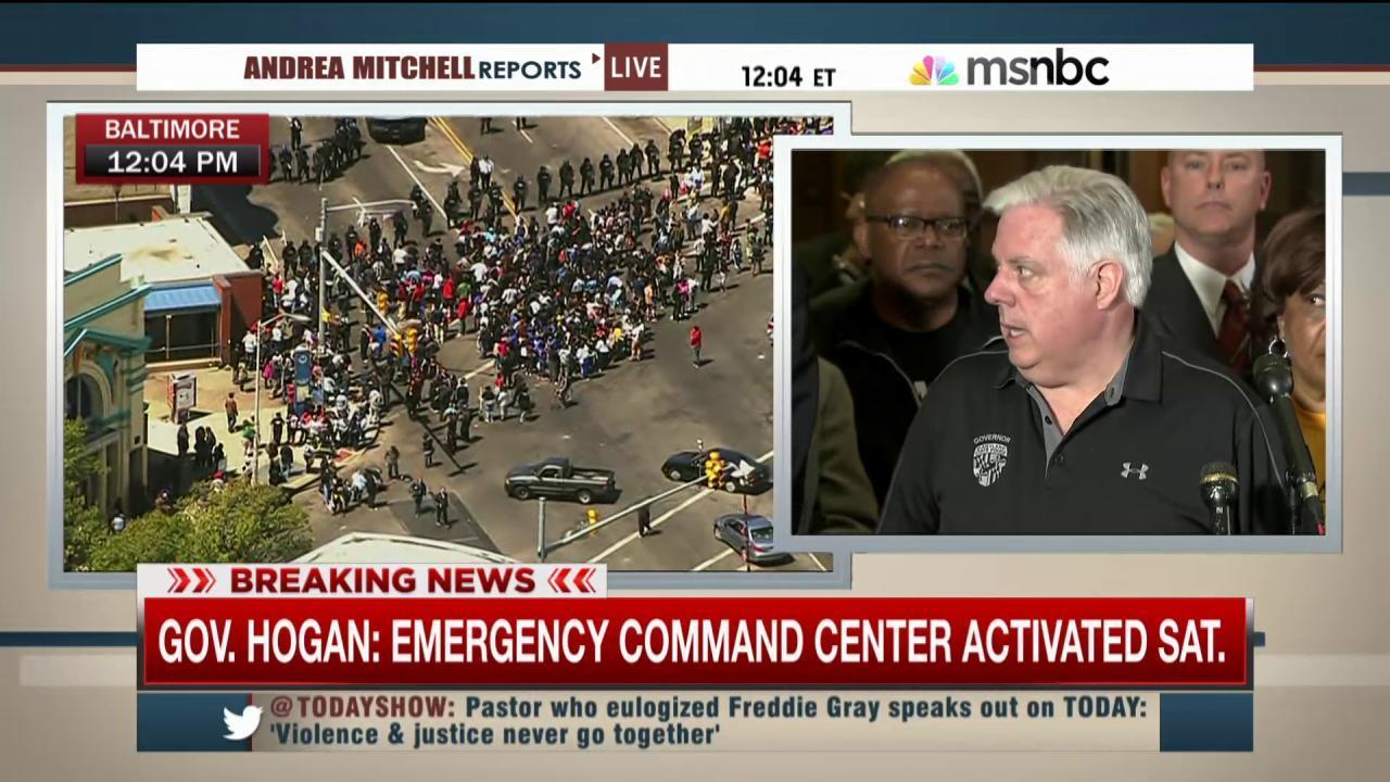Maryland gov condemns riots in Baltimore