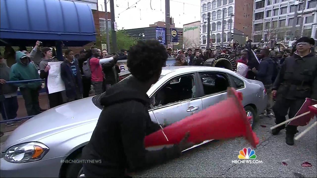 Baltimore Residents React to Riots, Violence - NBC News