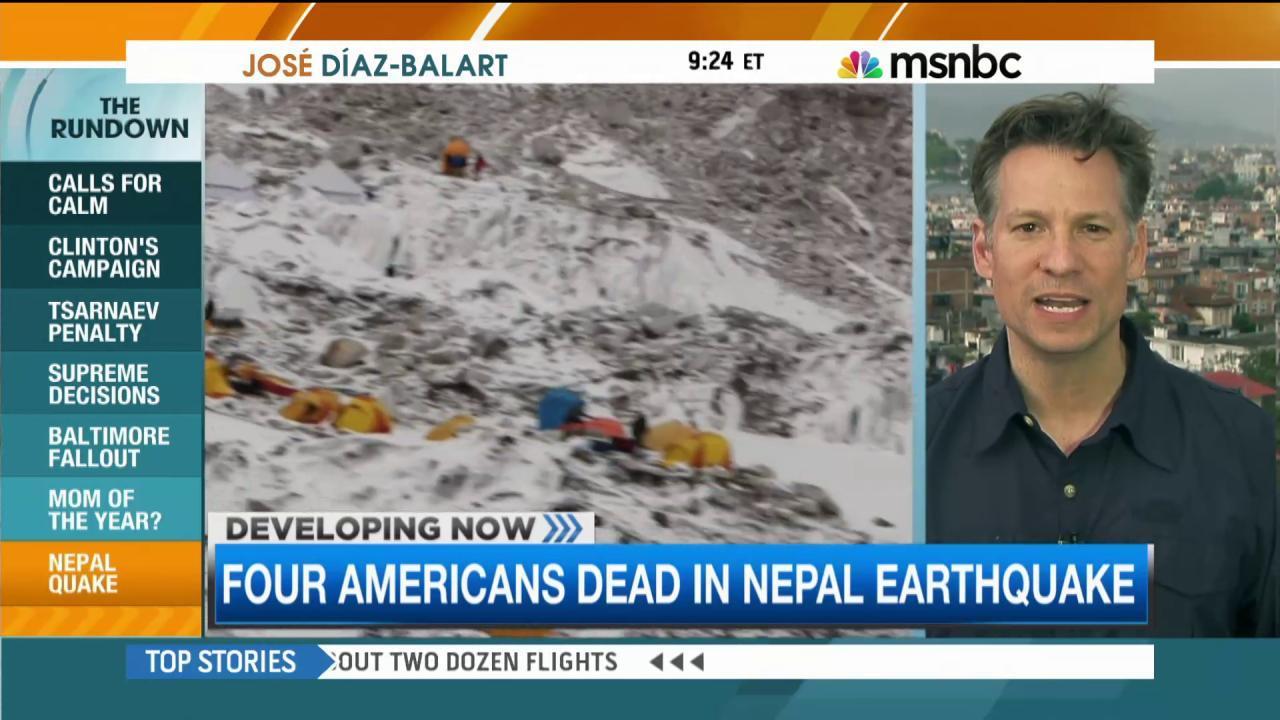 First look at destruction on Mount Everest