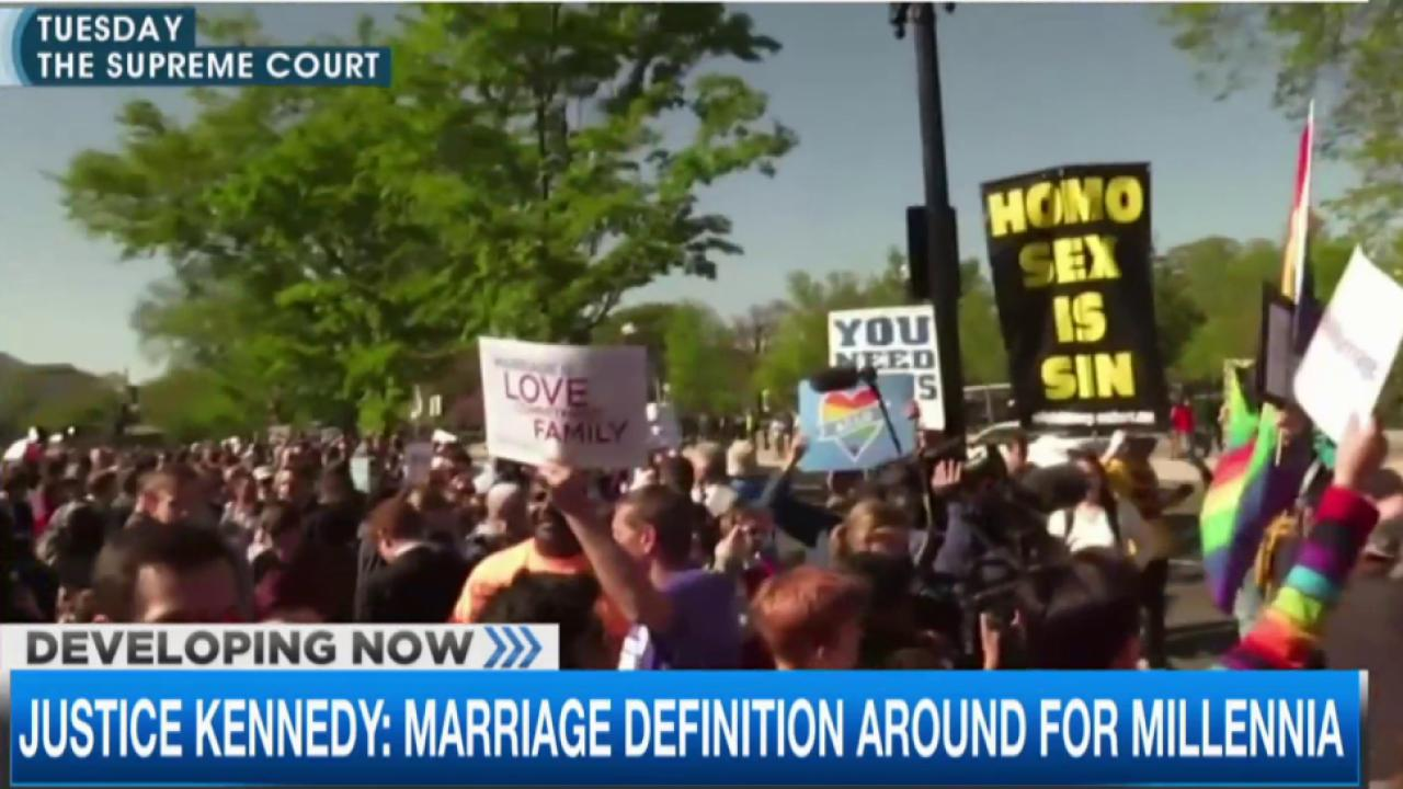 Justices divided over same-sex marriage