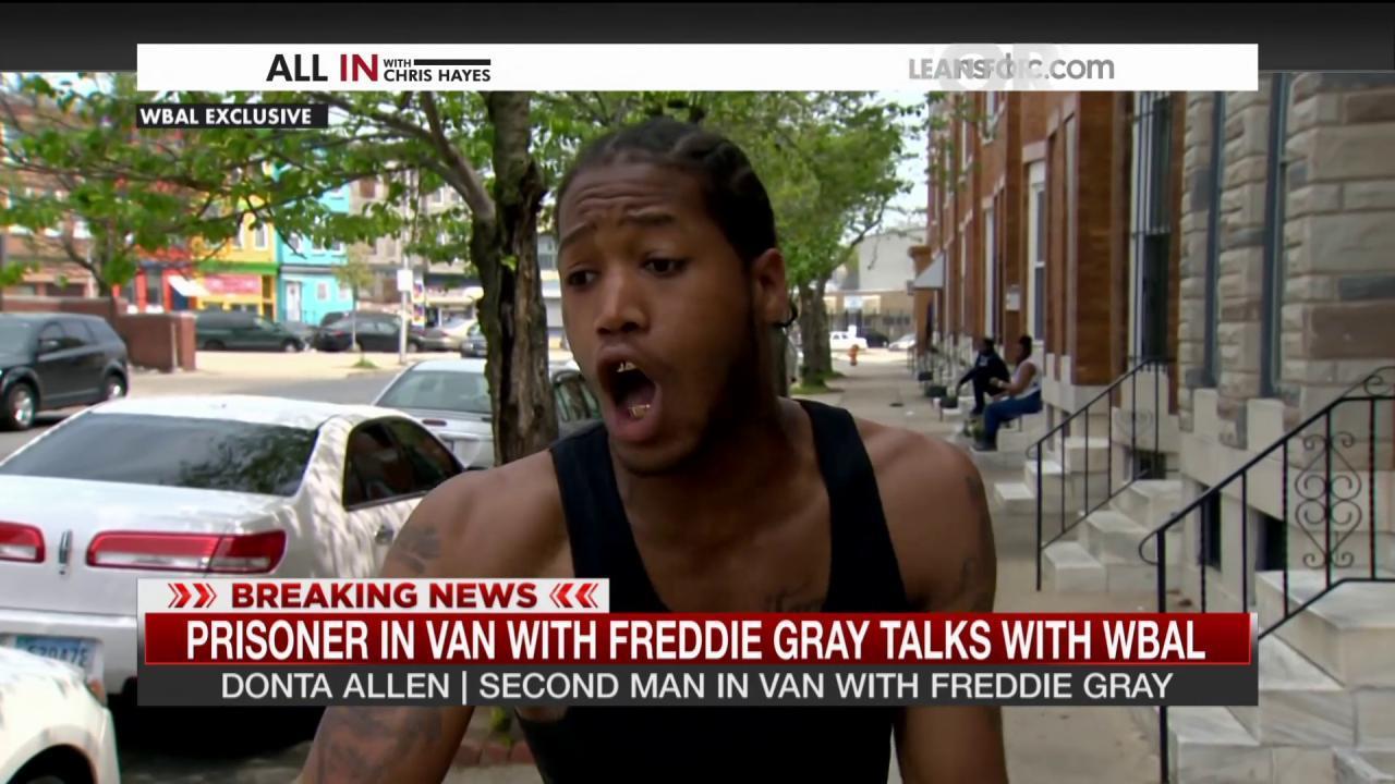 Second man in van with Freddie Gray speaks