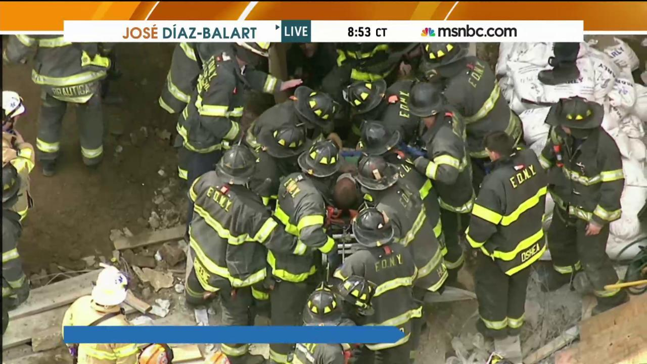 Trench rescue underway in Brooklyn, NY