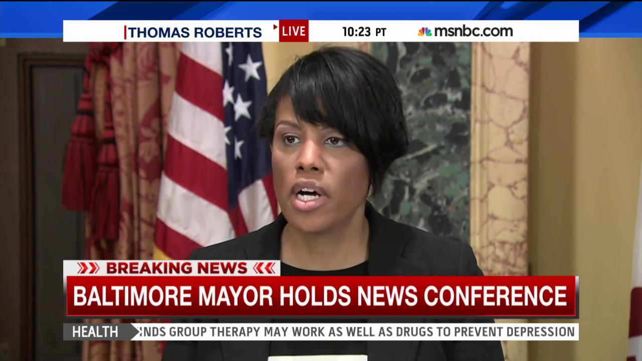 Baltimore mayor: 'No one is above the law'
