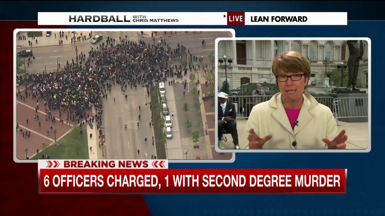 Baltimore reacts to charges in Gray case