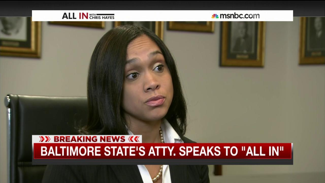Marilyn Mosby talks to Chris Hayes