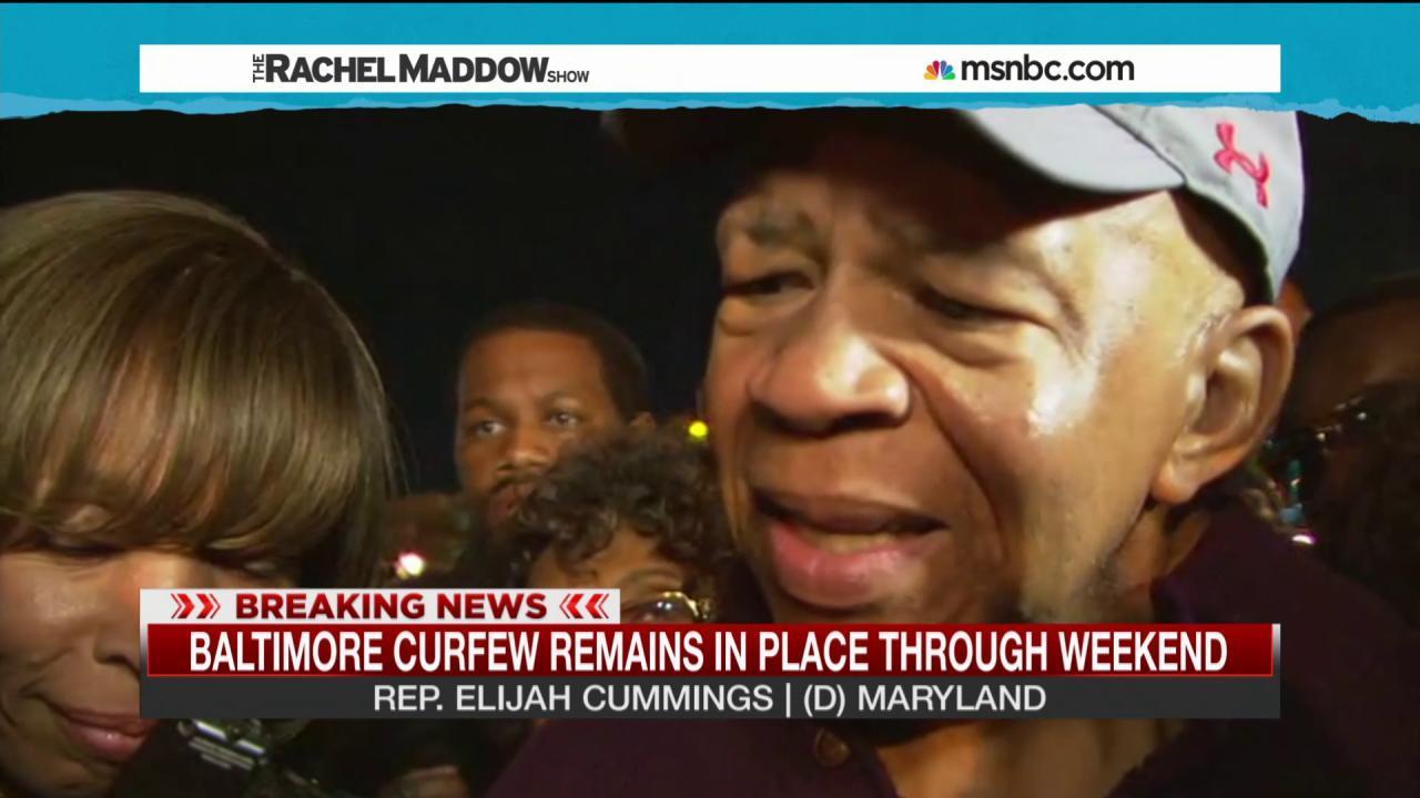Elijah Cummings: 'I am proud of Baltimore'