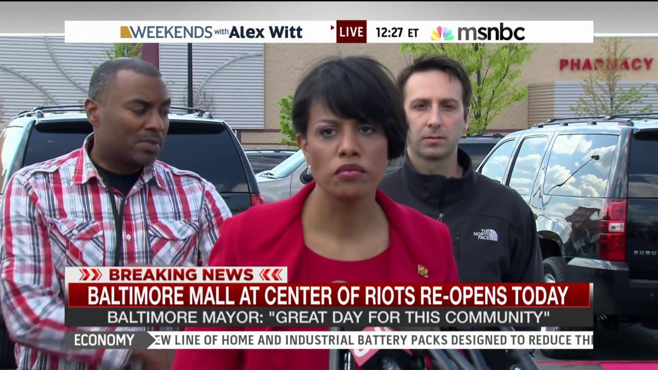 Baltimore mayor: 'We will get better.'