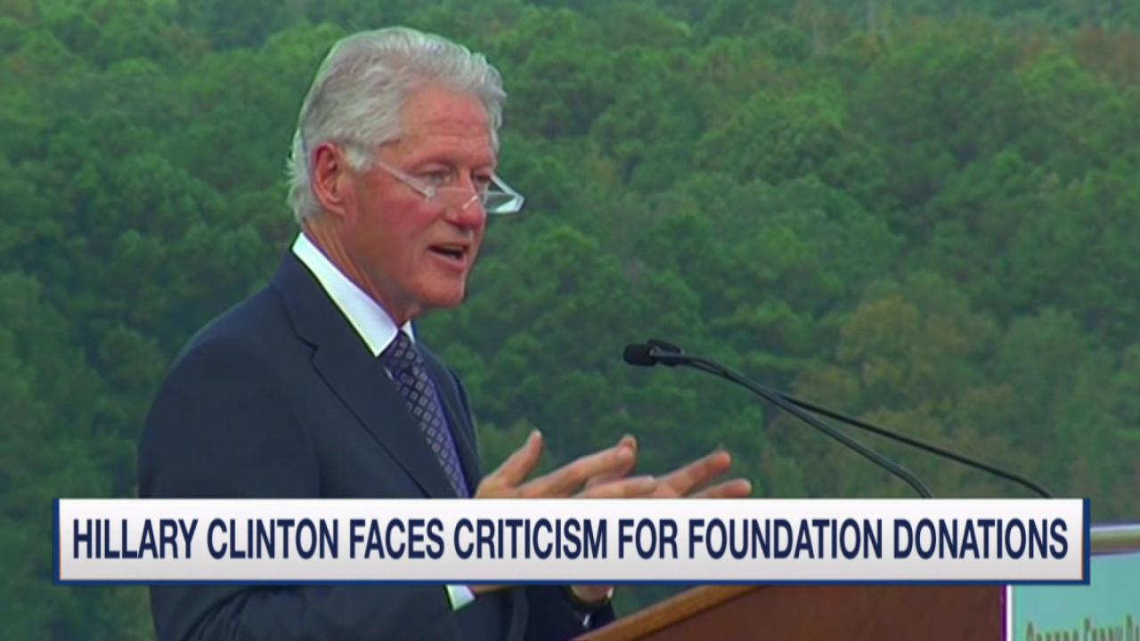 President Clinton refutes critics of cash...