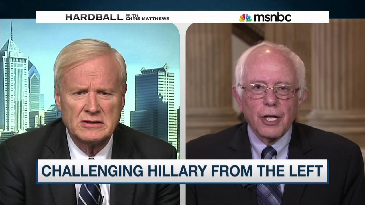 Sen. Sanders on Clinton's challengers