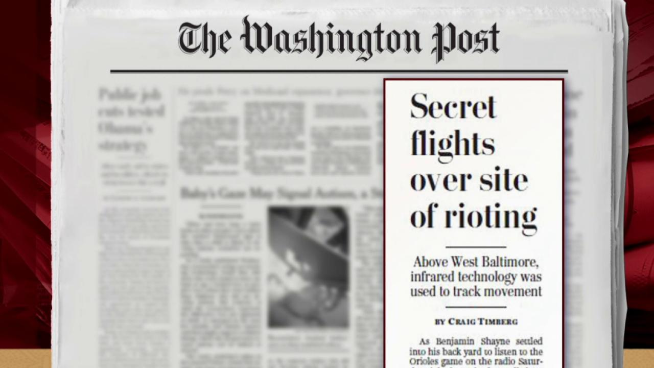 Surveillance planes flew over Baltimore:...