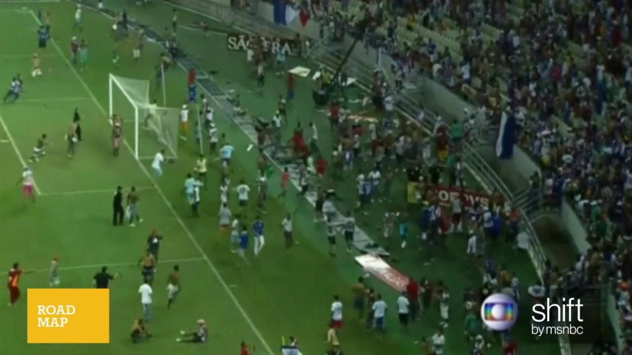 Brazilian soccer fans get heated