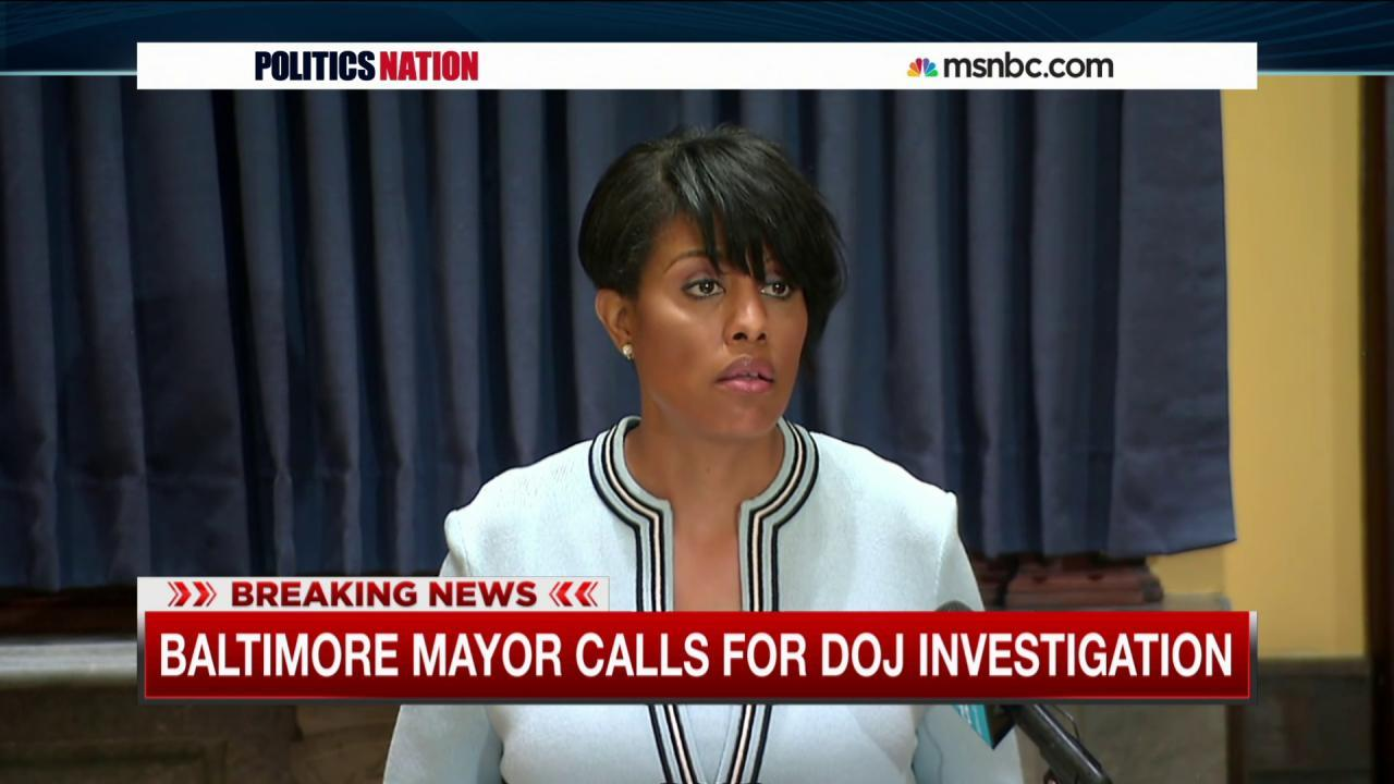 Baltimore mayor asks for DOJ investigation