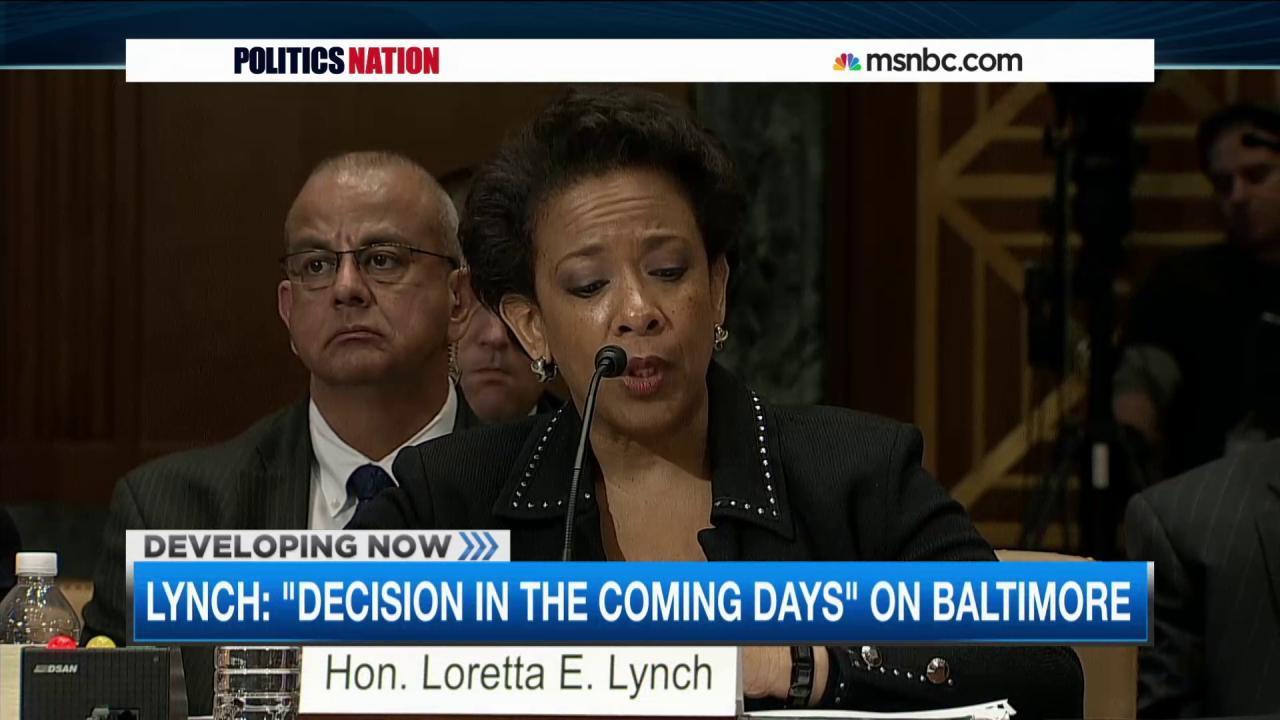 Loretta Lynch: Decision looming in Baltimore