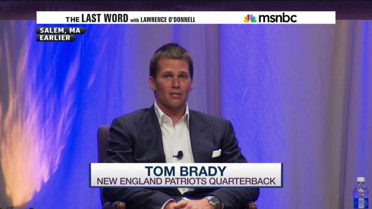 Brady asked about 'Deflategate', says nothing