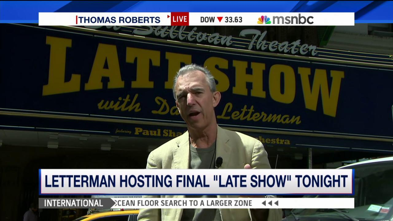 Letterman hosting final 'Late Show'