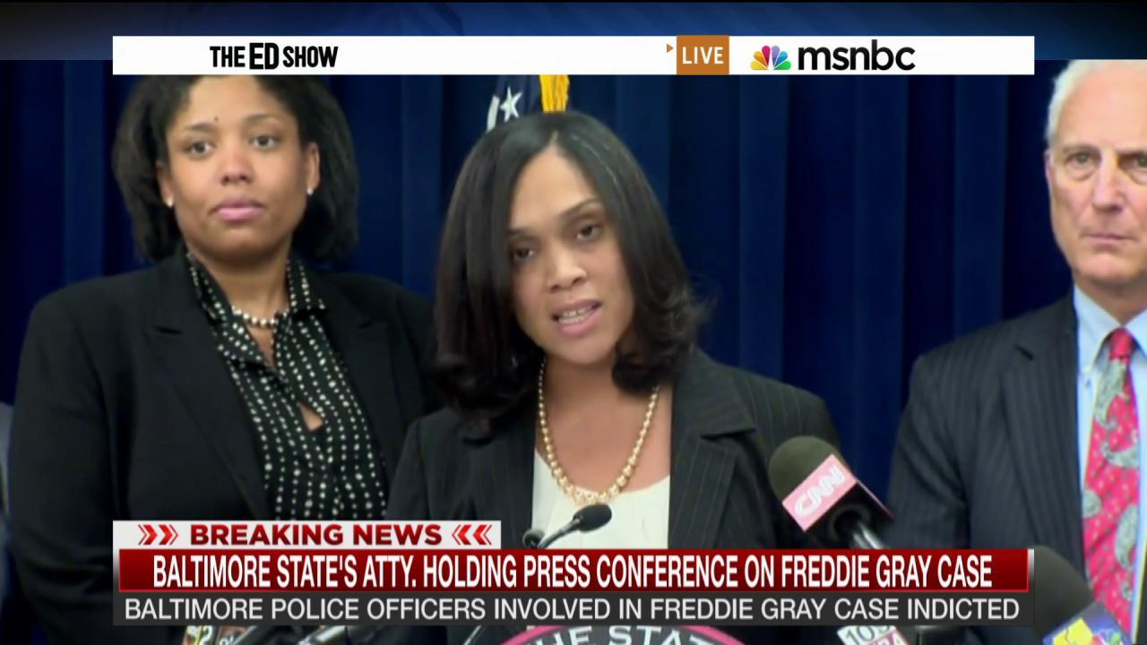 Officers indicted in Freddie Gray case