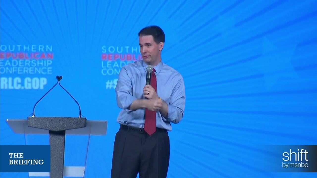 Scott Walker takes a jab at entire GOP field