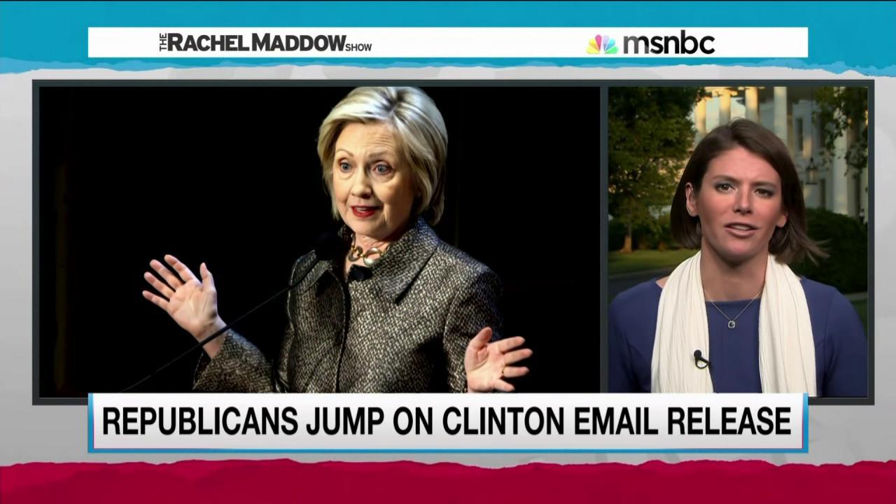 GOP seeks advantage with Clinton emails