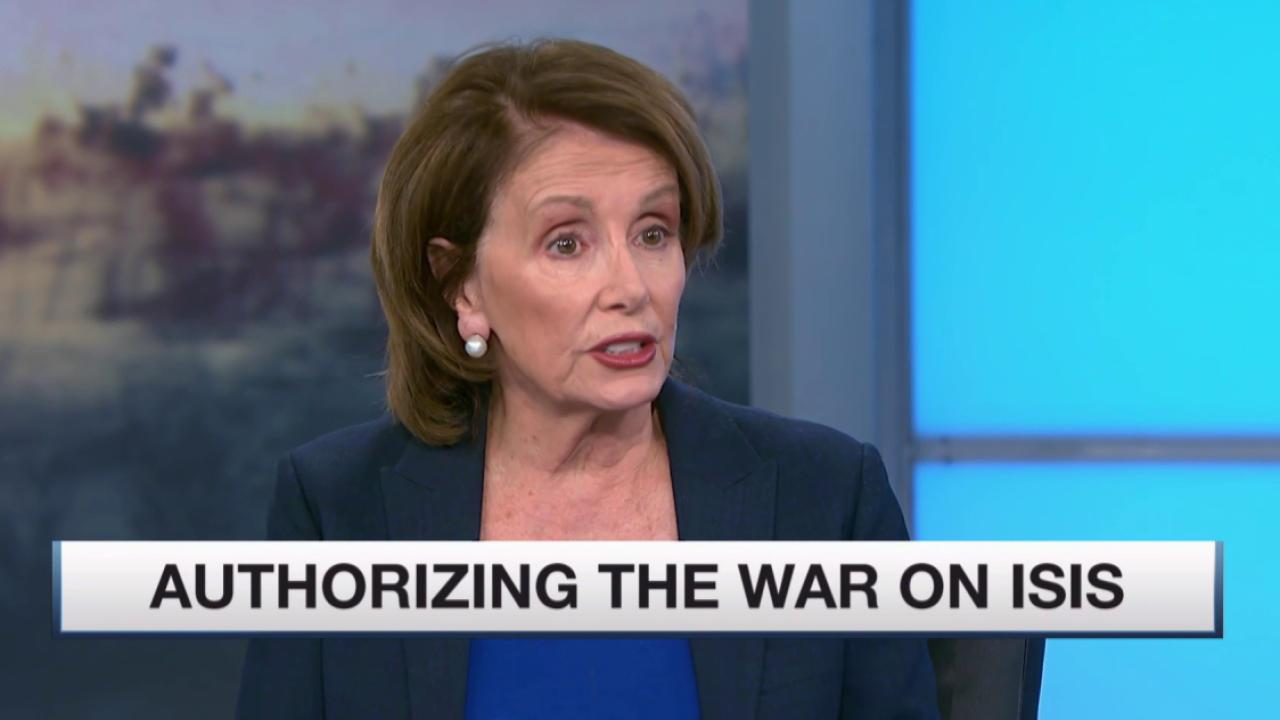 Nancy Pelosi talks ISIS and trade bill