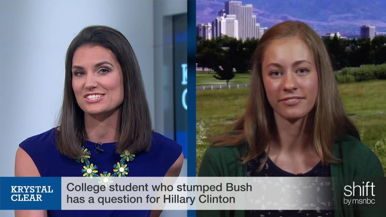 College student who stumped Jeb has a...