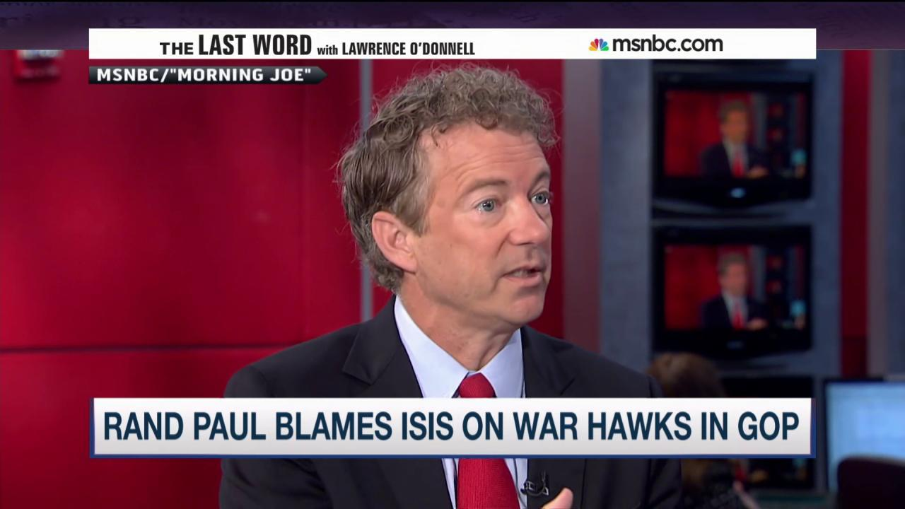 Rand Paul: GOP hawks are to blame for ISIS
