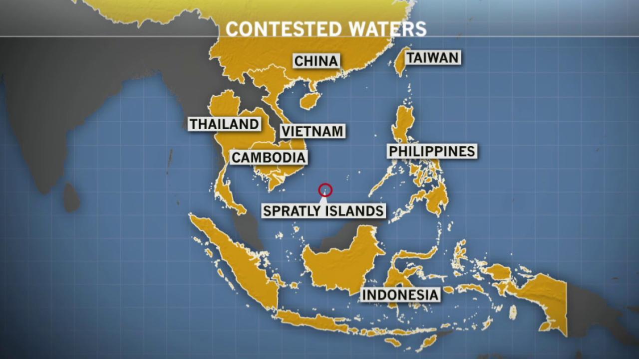China building artificial islands