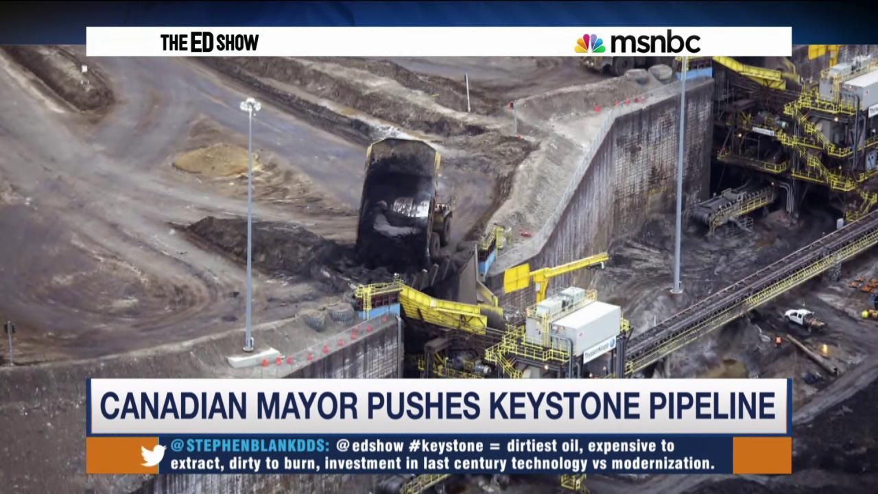 Canadian mayor defends Keystone