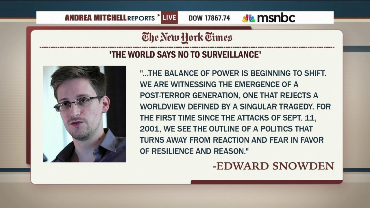 Edward Snowden touts NSA changes in op-ed