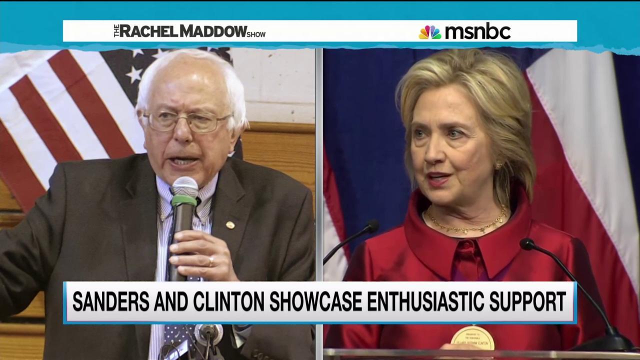Bernie Sanders keeps pressure on Clinton