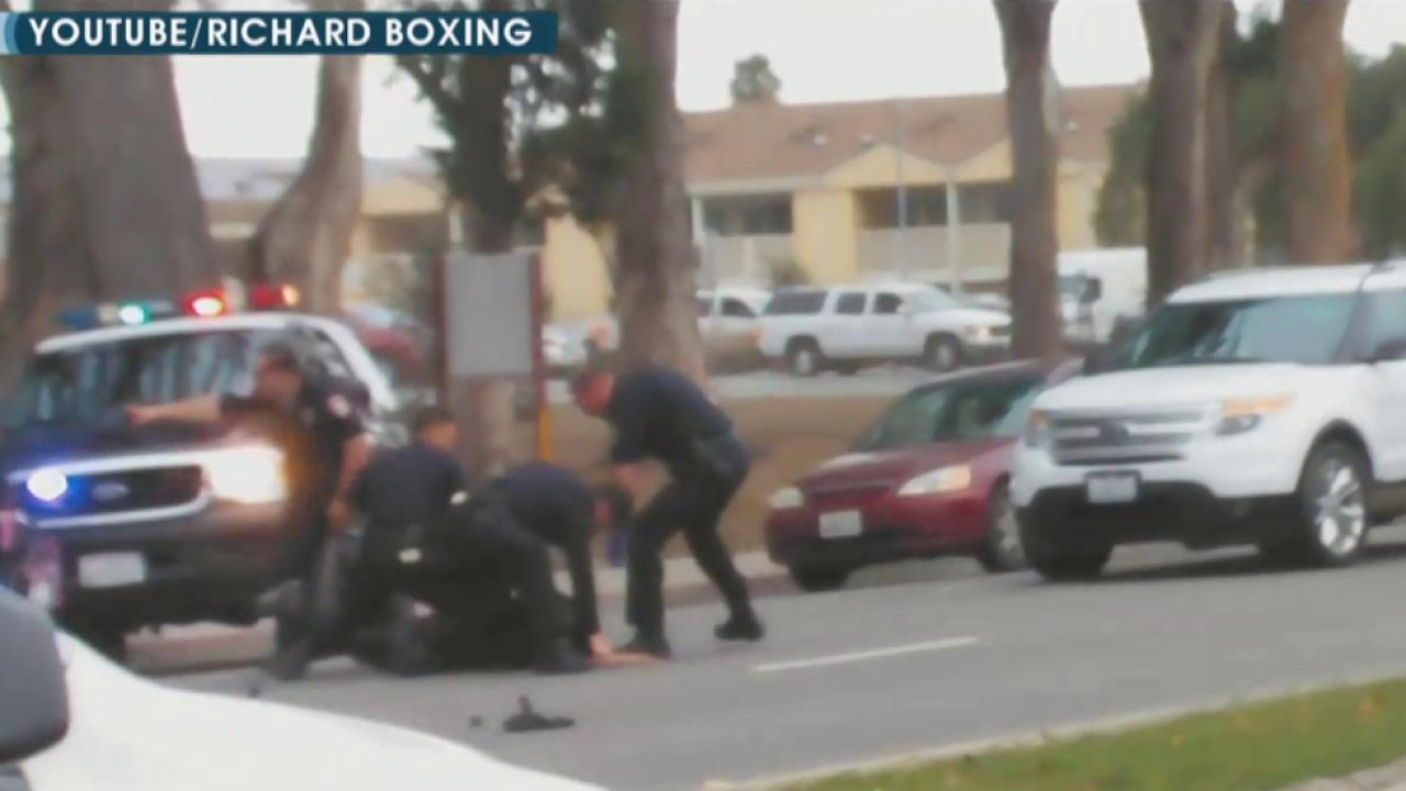 Violent arrest in California under review