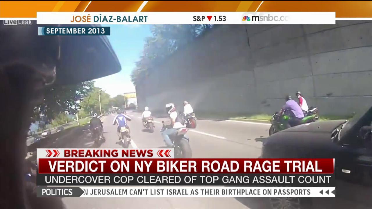 Verdict in NY biker 'road rage' trial