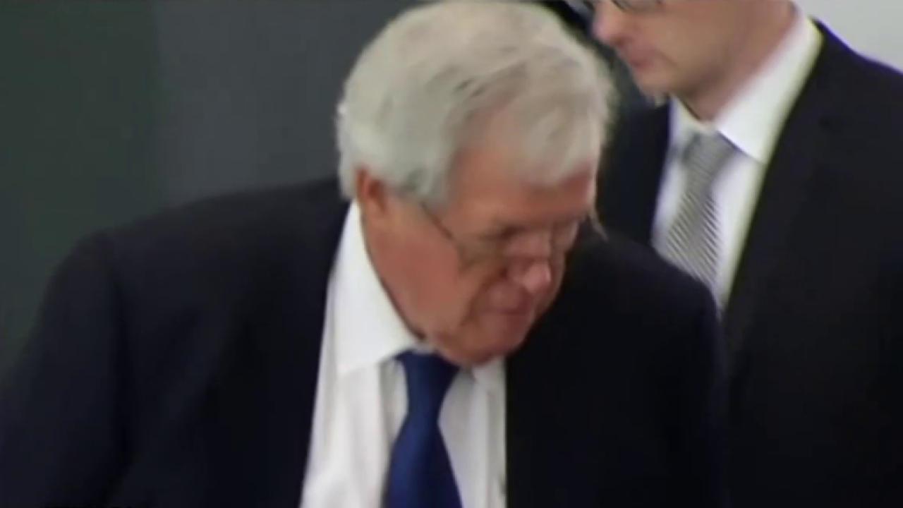 Hastert appears in court, pleads not guilty