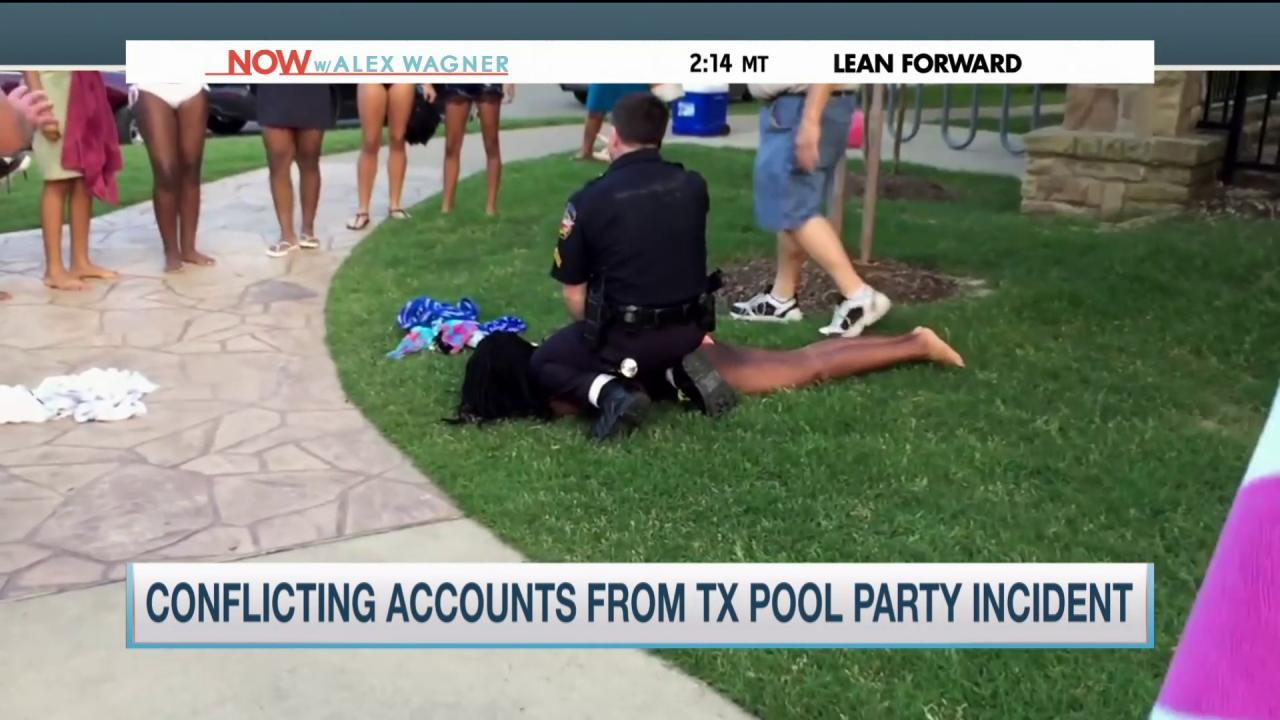 Conflicting reports on McKinney pool incident