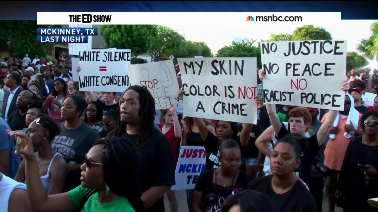 McKinney protest draws hundreds
