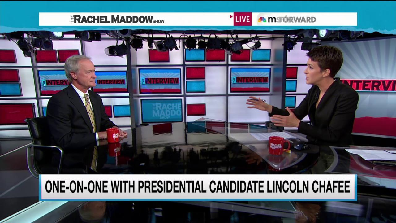 Chafee on keeping principle over partisanship