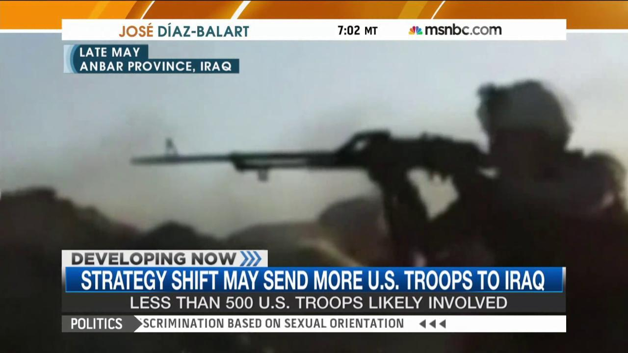 Strategy shift may send more troops to Iraq