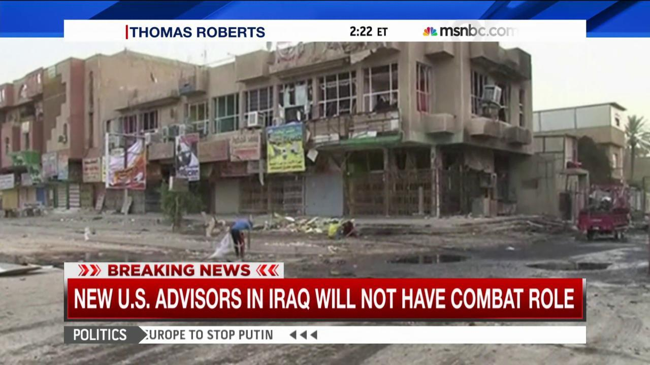 US advisers in Iraq won't have combat role